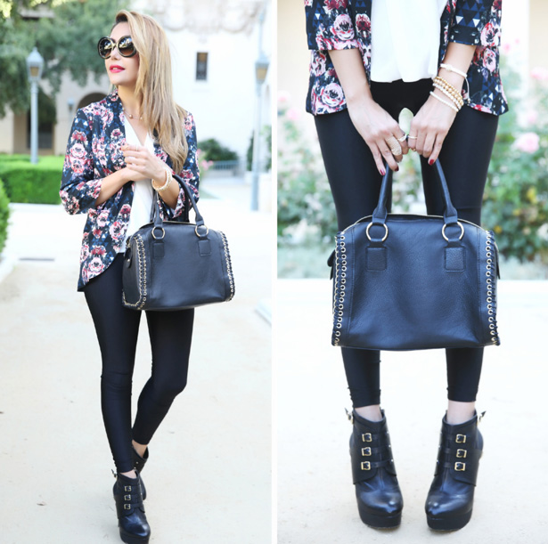 floral blazer outfit